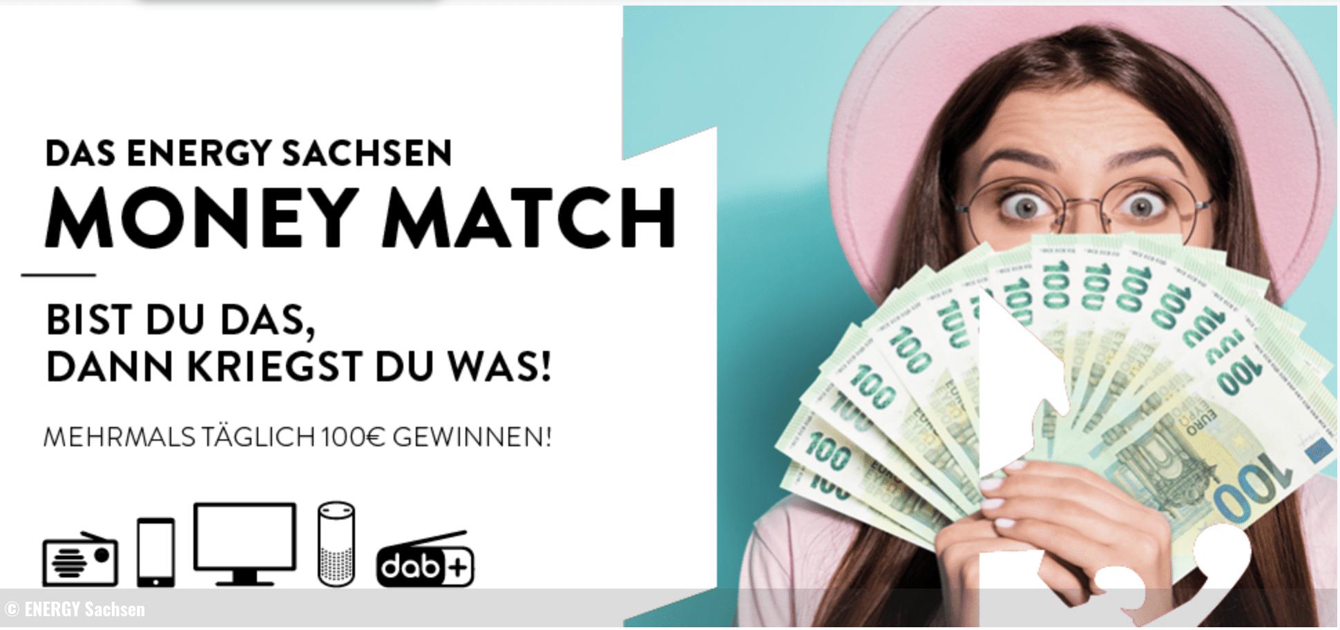 Energy Sachsen Radio Money Match Gewinnspiel