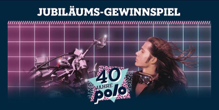 Cases Jubiläums-Gewinnspiele POLO Motorrad