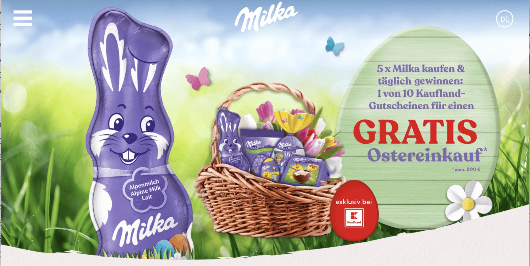 Milka bei Kaufland Einkaufsgutschein gewinnen