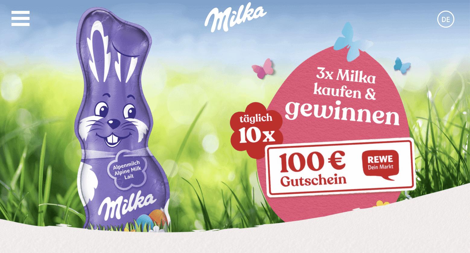 Milka Milka Einkaufsgutschein gewinnen