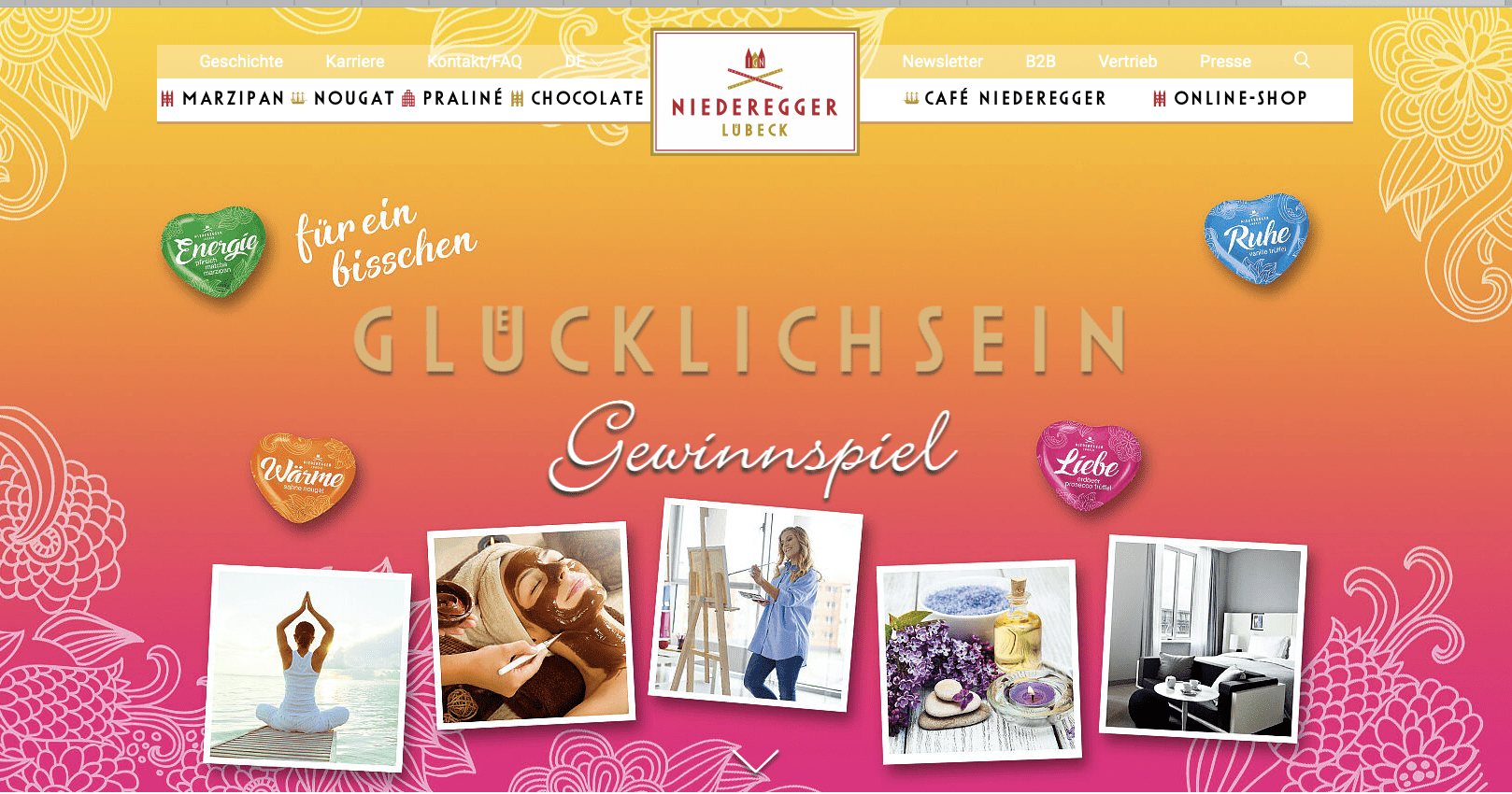 Gewinnspiel-Cases FMCG Süßwaren & Snacks Niederegger