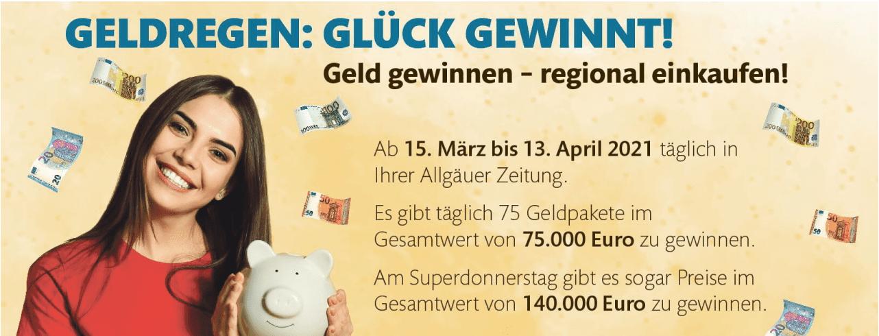 """""""Geldregen"""" für Leser der Allgäuer Zeitung Case Call-in-Gewinnspiel"""