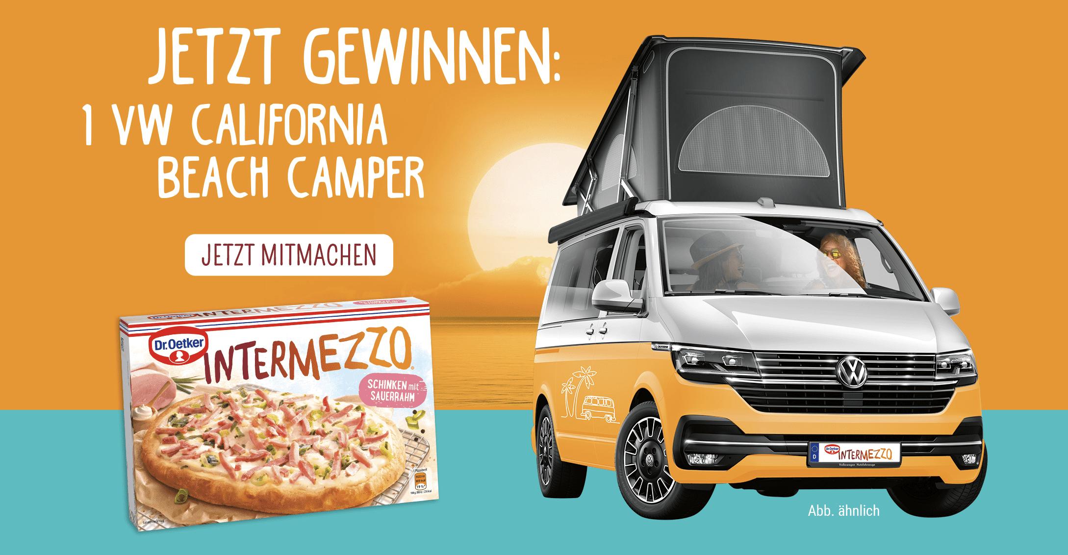 Dr. Oetker Intermezzo-Pizza: VW California Beach Camper gewinnen