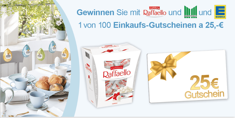 Gewinnspiel- Cases FMCG Süßwaren & Snacks Raffaelo