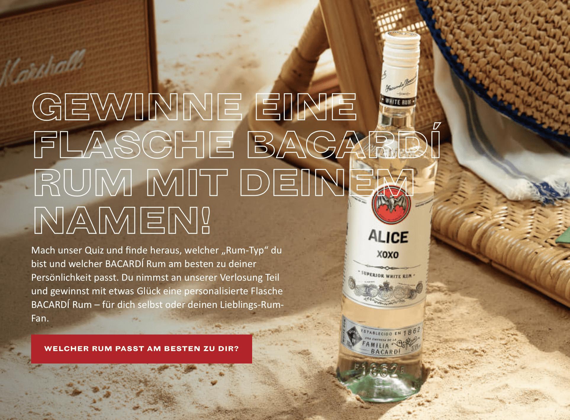 Barcadi Gewinnspiel-Cases FMCG Getränke
