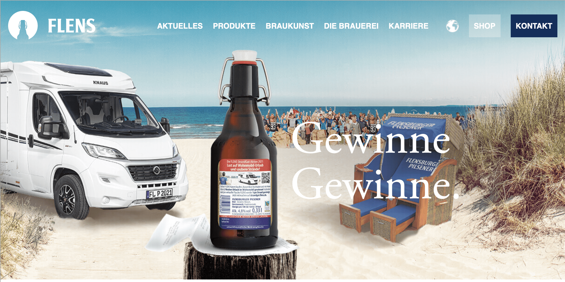 Flensburger Gewinnspiel-Cases FMCG Getränke
