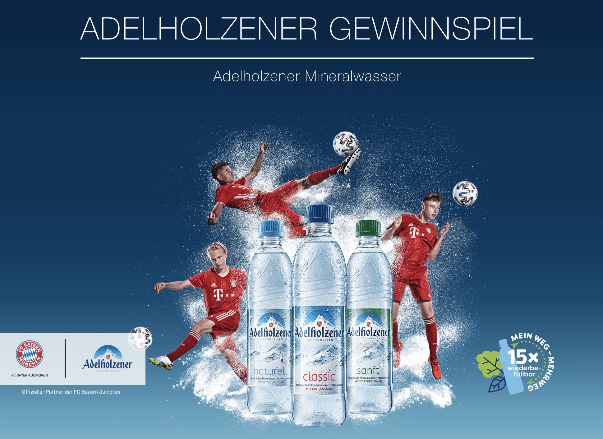 Gewinnspiel-Cases FMCG Getränke Adelholzener