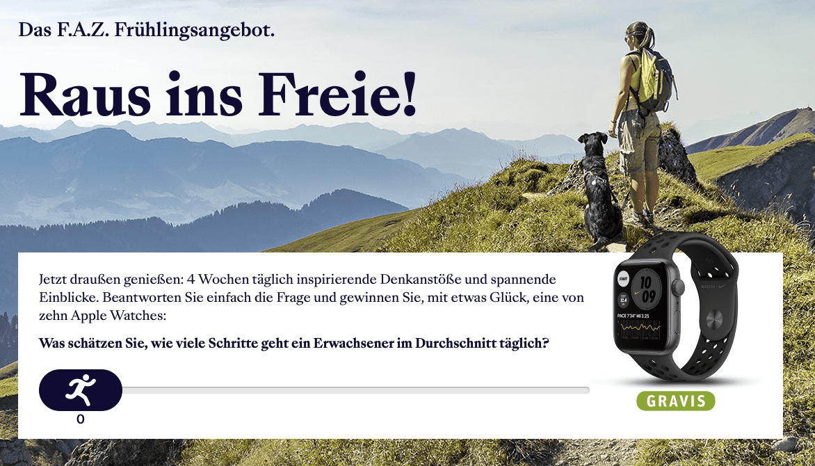 """FAZ Gewinnspiel-Case """"Verlage"""""""