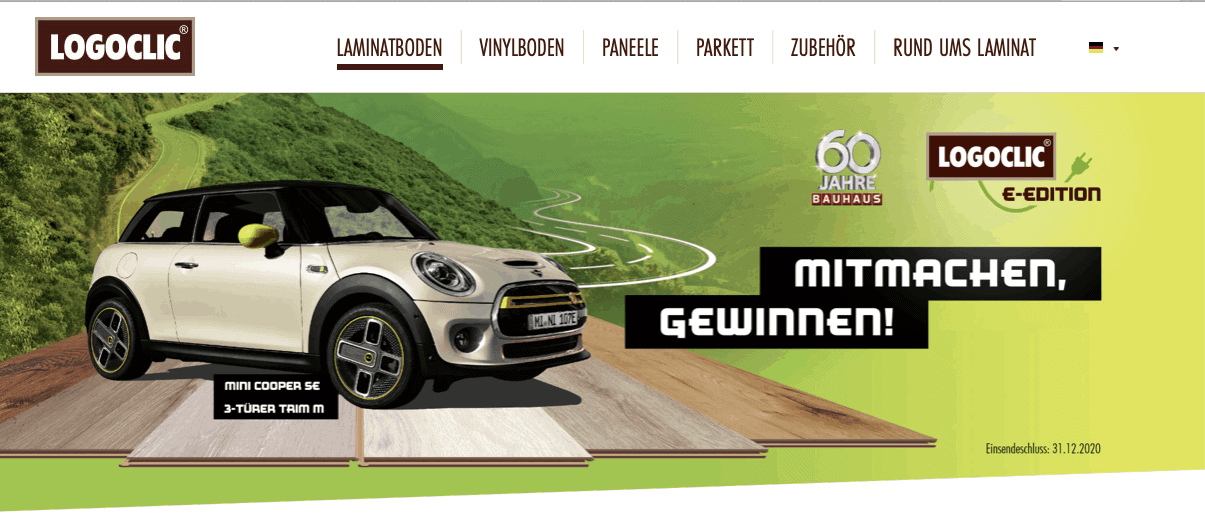 "Gewinnspiel-Cases ""Baumärkte & Gartencenter"" Logoclic"