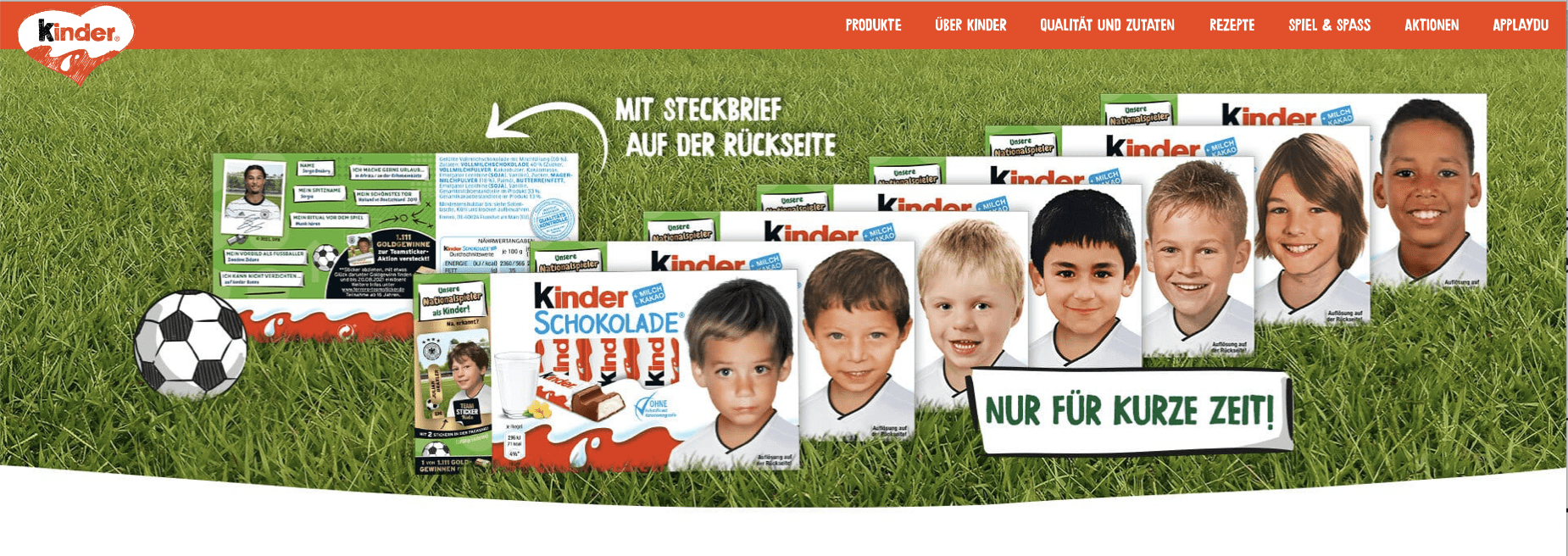 Gewinnspiel-Cases FMCG Süßwaren & Snacks Kinder Schokolade