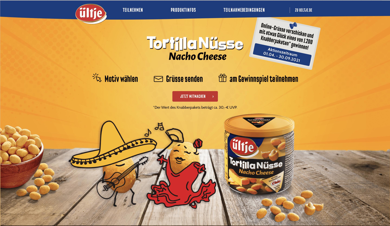 Gewinnspiel-Cases FMCG Süßwaren & Snacks Ültje Tortilla