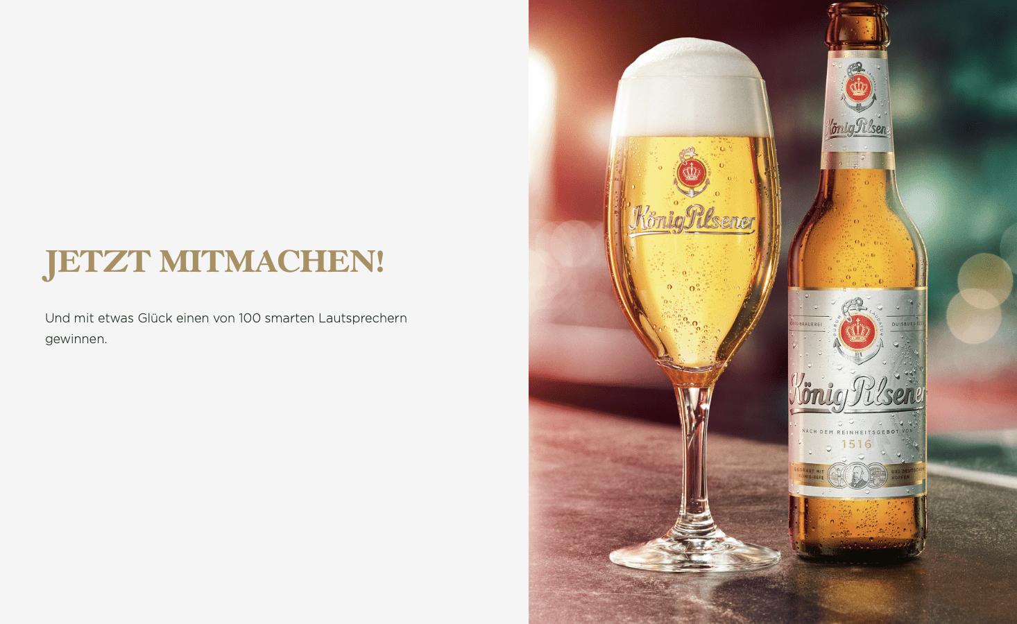 Gewinnspiel-Cases FMCG Getränke König Pilsener