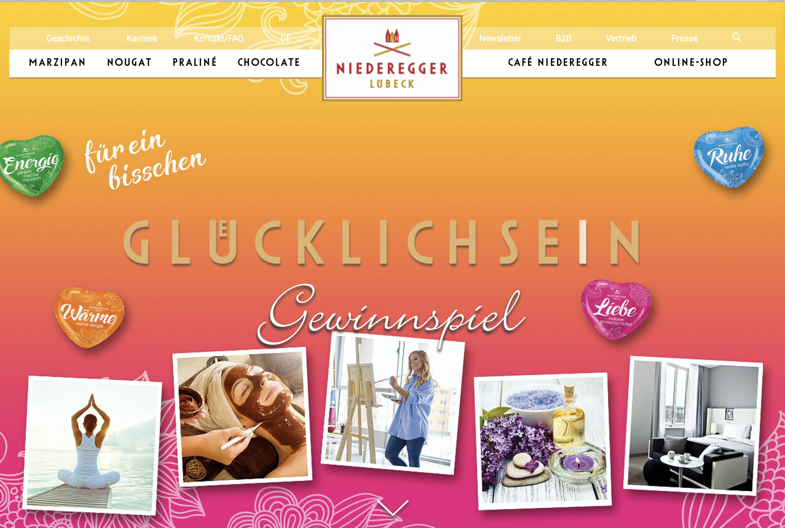 Gewinnspiel- Cases FMCG Süßwaren & Snacks Niederegger
