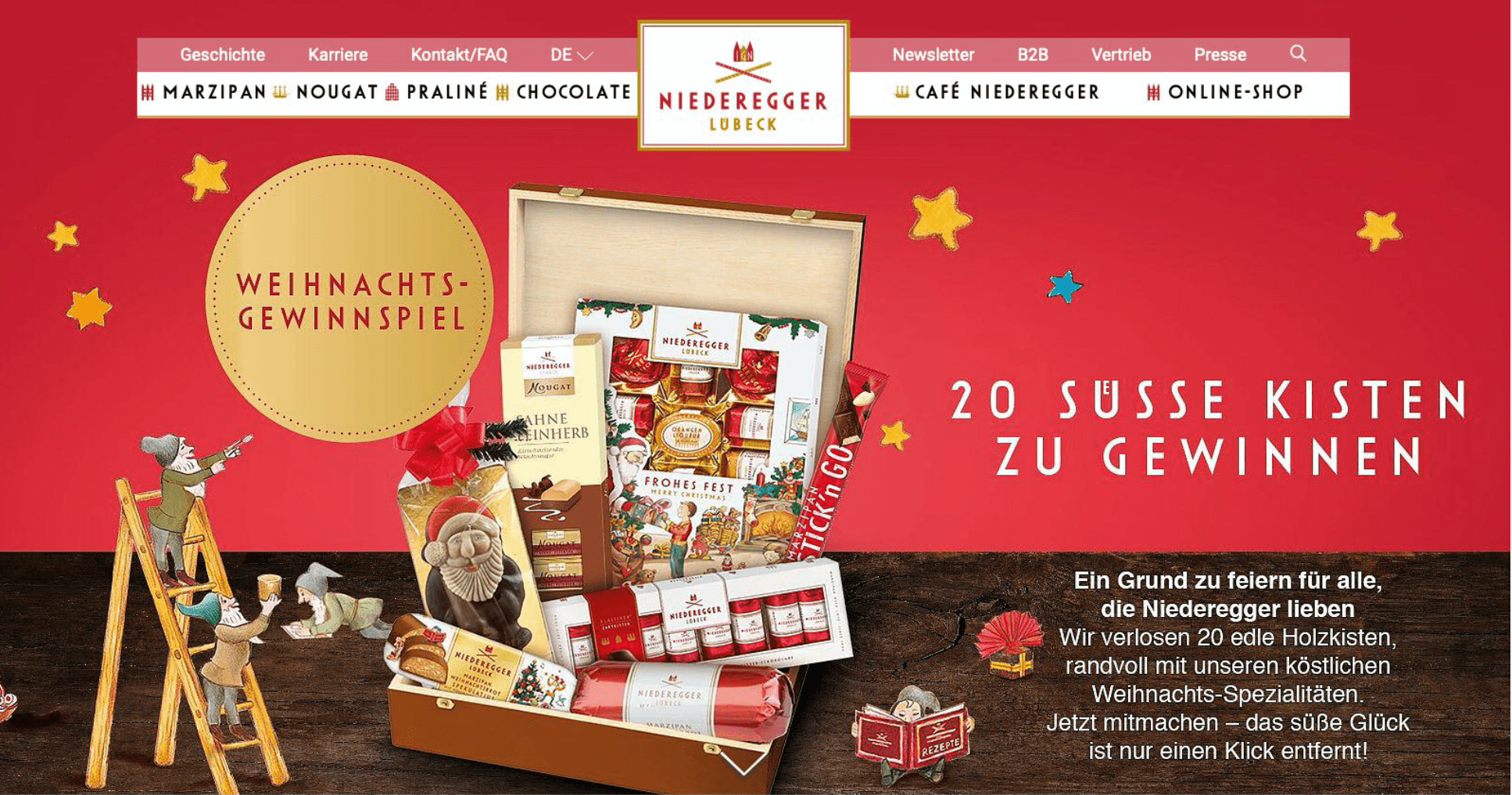 Gewinnspiel-Cases FMCG Süßwaren & Snacks Nierderegger