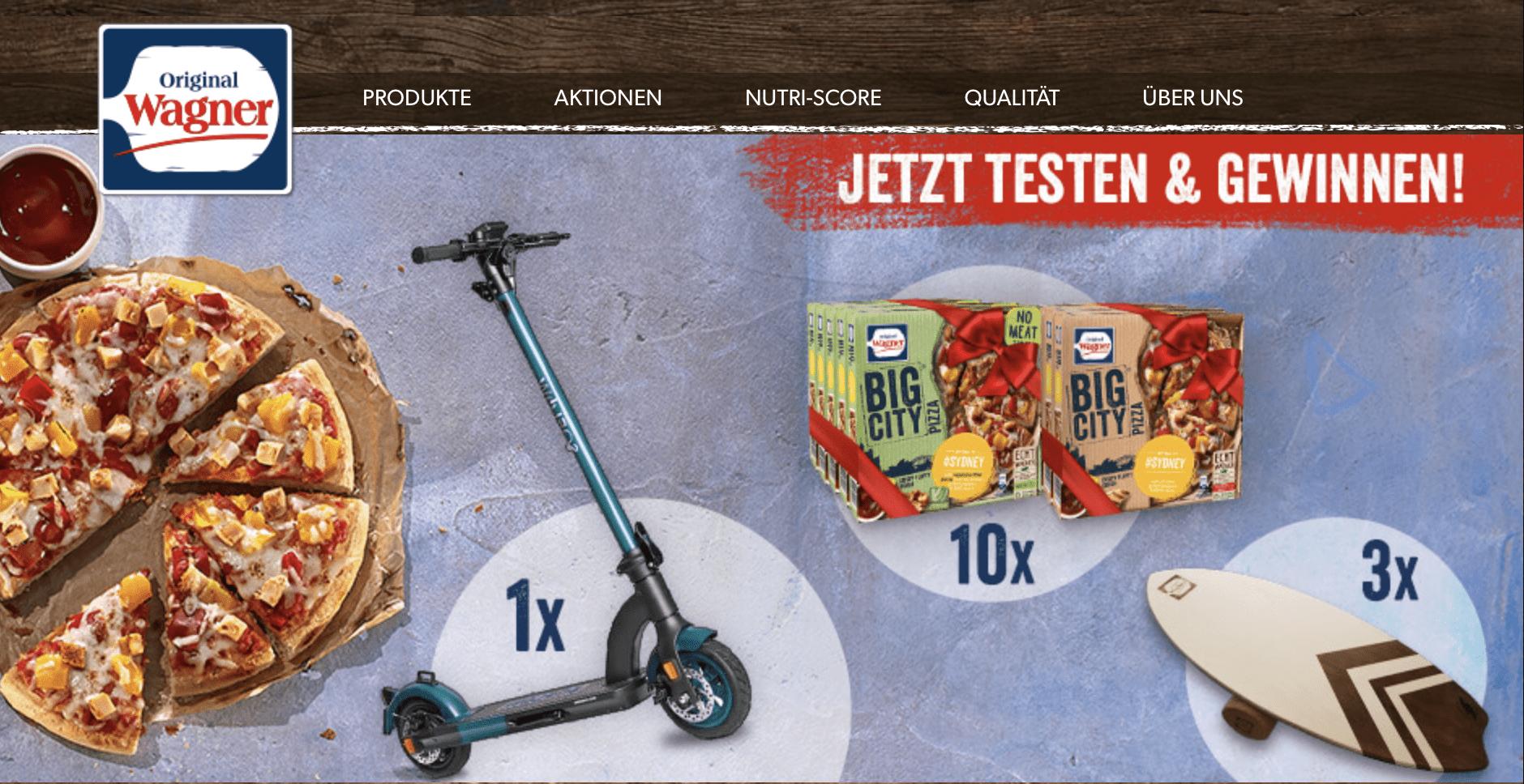 Gewinnspiel-Cases FMCG Food Wagner Pizza