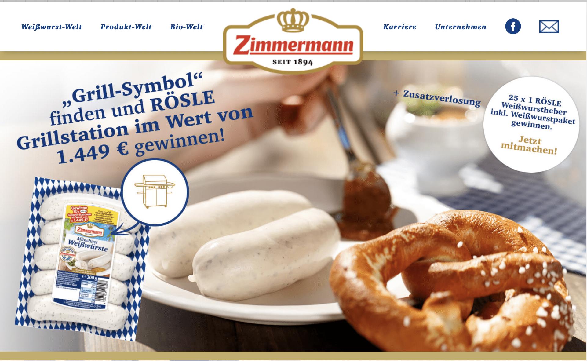 Gewinnspiel-Cases FMCG Food Zimmermann