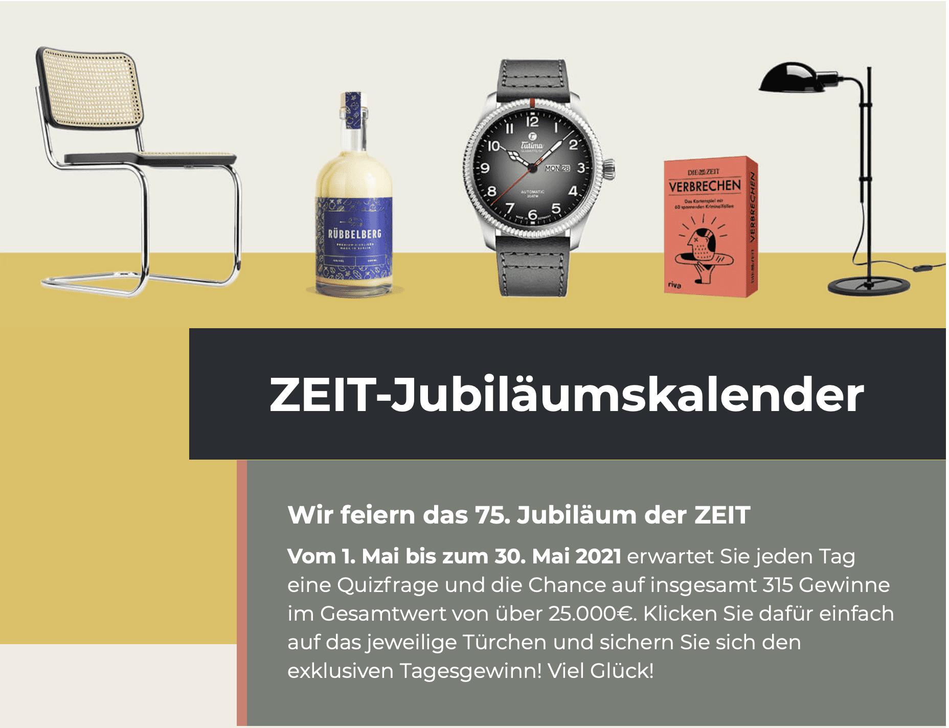 Gewinnspiel-Case Verlage Die Zeit