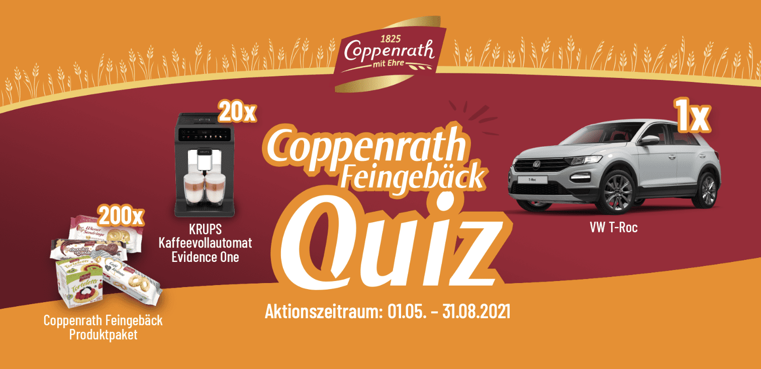 """Gewinnspiel-Cases """"FMCG Food"""" Coppenrath-Quizz"""