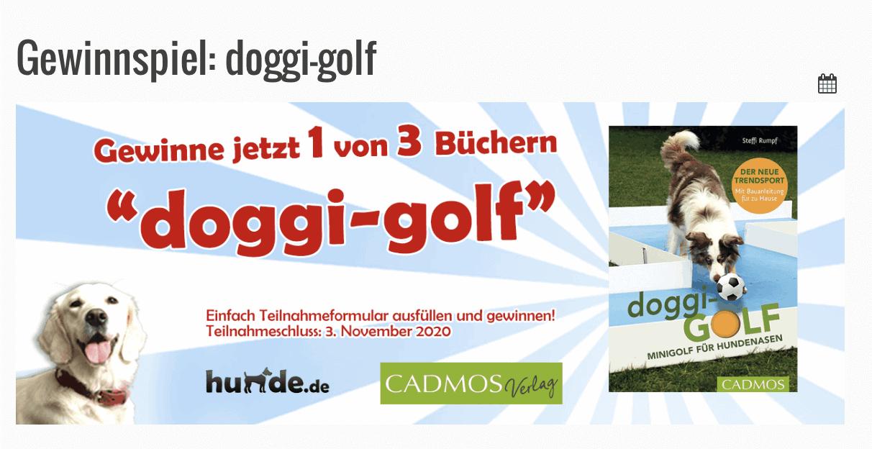 Gewinnspiel-Cases Tiermärkte & Tiernahrung Doggi-golf