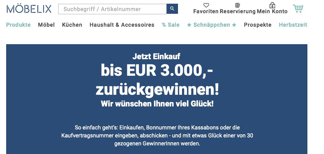 """Cases """"Gewinn Deinen Einkauf zurück"""" möbelfix.at"""