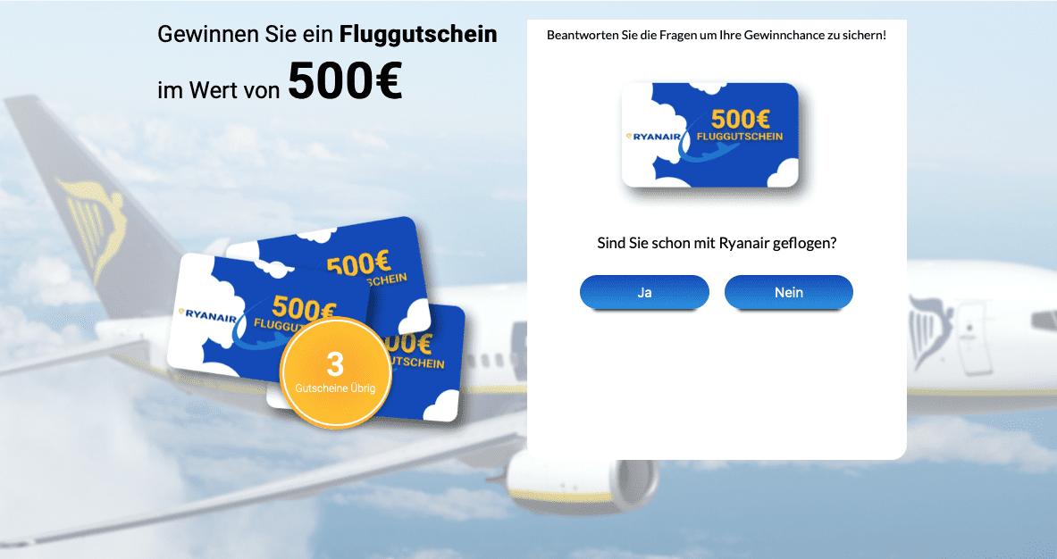 Gewinnspiele zur Lead-Generierung Ryanair
