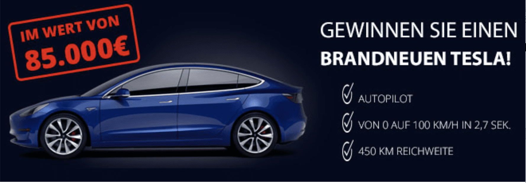 Gewinnspiele zur Lead-Generierung Tesla