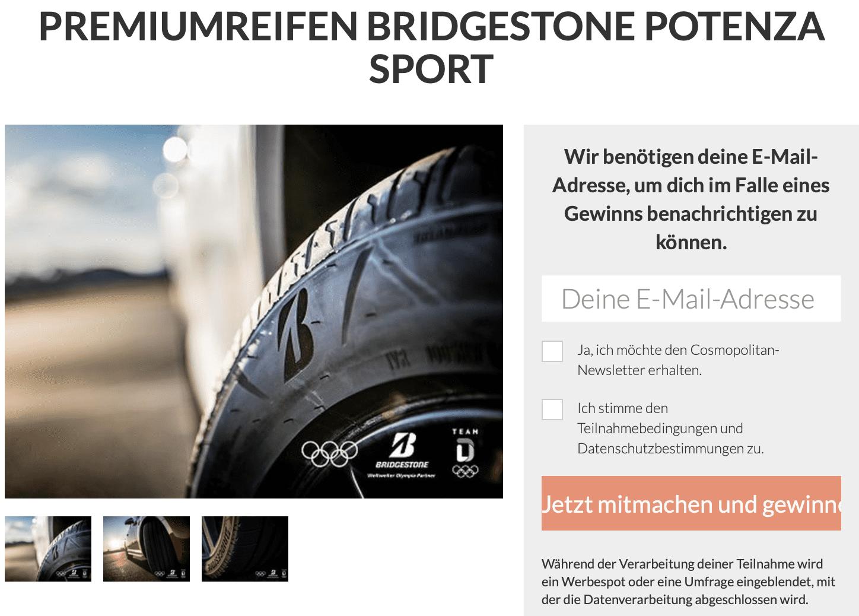 Gewinnspiel-Case Verlage Bauer Verlag Bridgestone