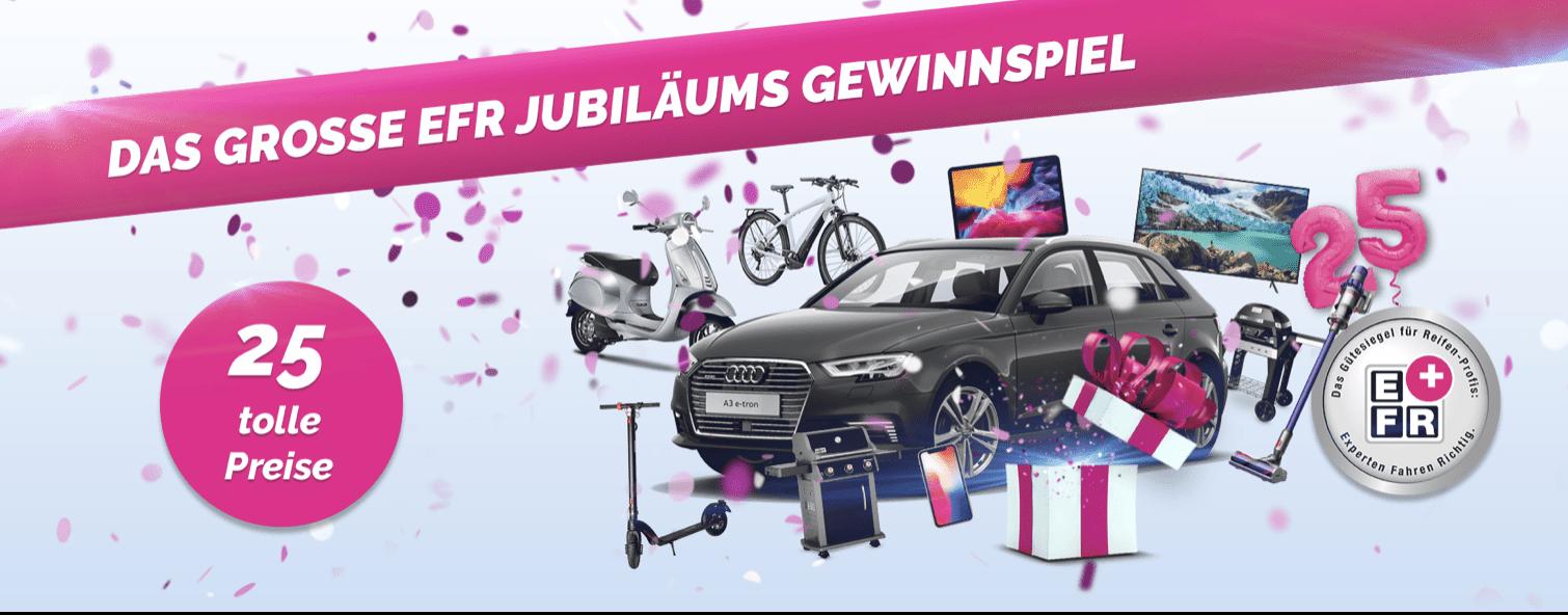 Gewinnspiel-Cases Automotive EFR Jubiläumsgewinnspiel
