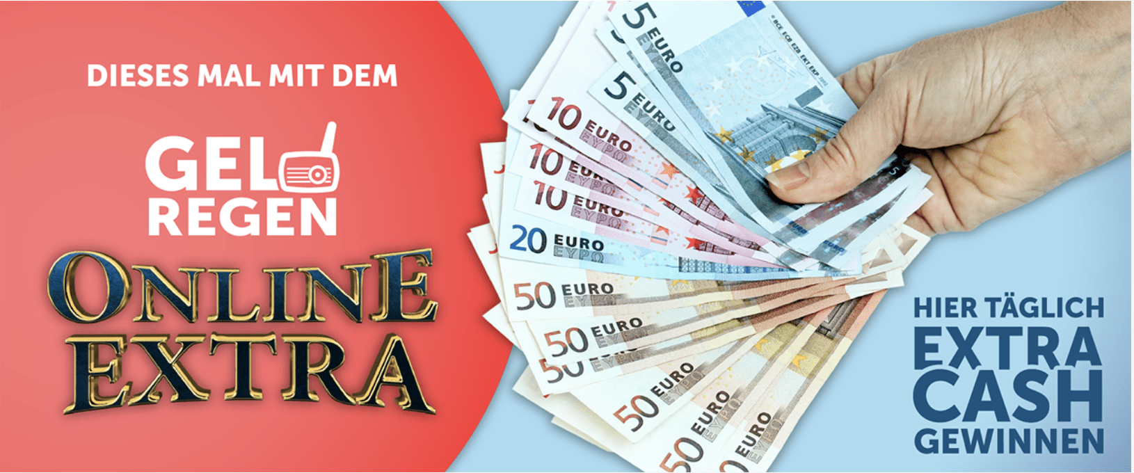 Gewinnspiel-Cases Radio & TV Geldregen online extra