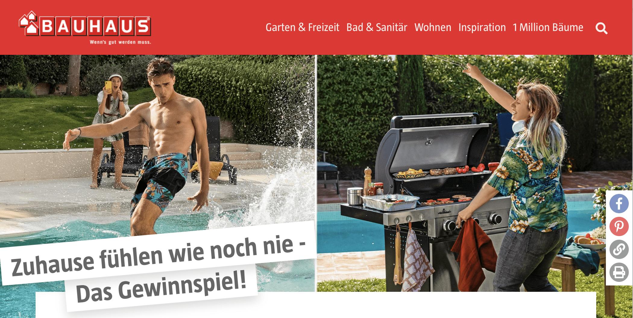 "Gewinnspiel-Cases ""Baumärkte & Gartencenter"" Bauhaus"