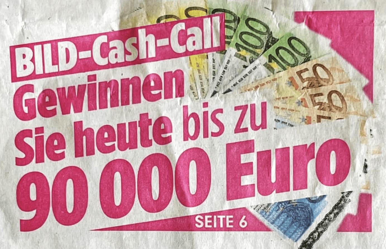 BILD SOMMER-CASH-CALL 2021 Gewinnspiel-Case Verlage