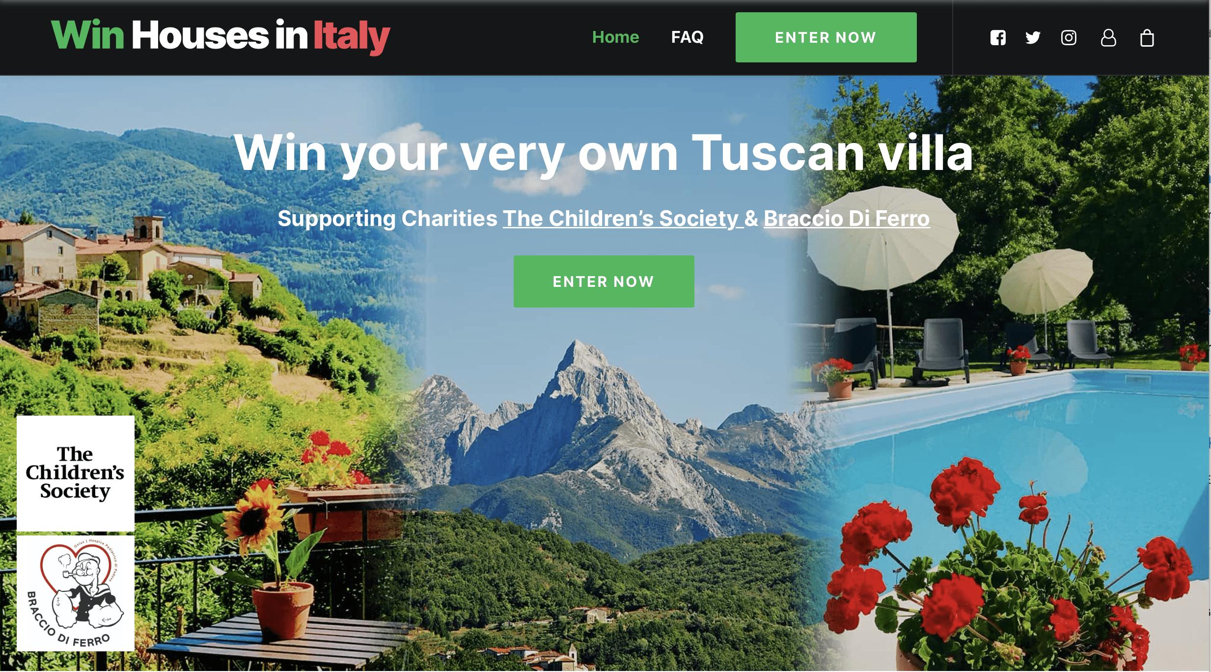 Ehepaar verlost eine Villa in der Toskana