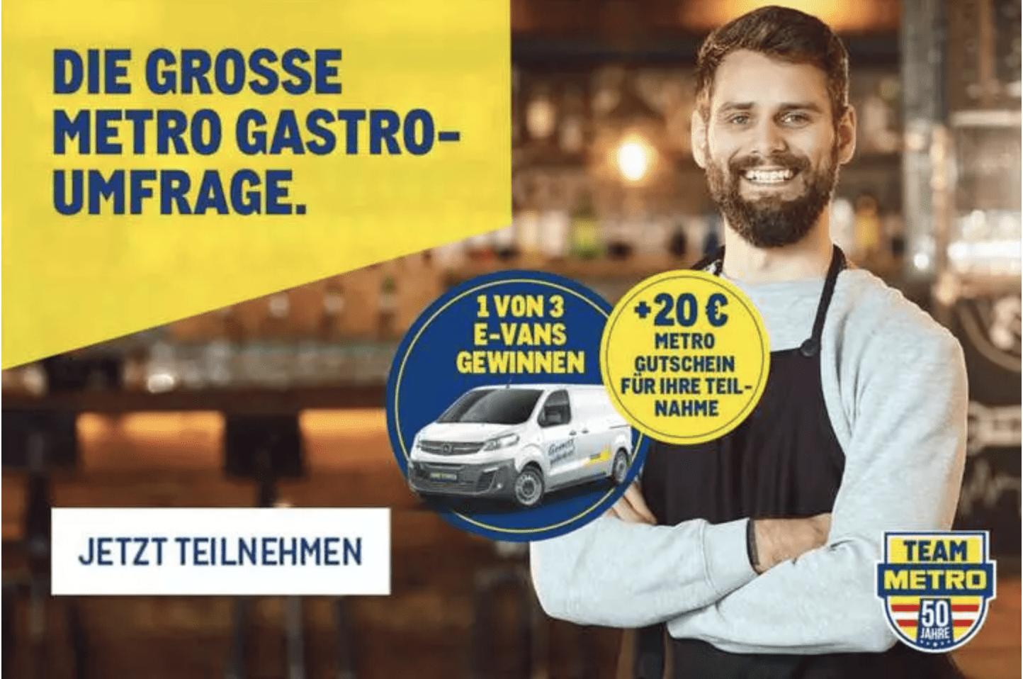 Opel-E-Van gewinnen - Metro befragt Gastronomen